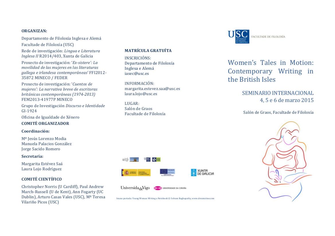 Programme  Women's Tales in Motion (March 4-5-6, 2015)